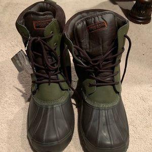 London Fog Men's Snow Winter Boots brown/Green New